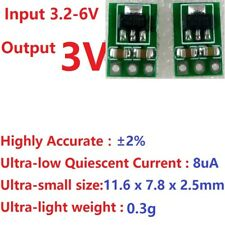 2x mini DC-DC 3.3V 3.7V 5V to 3V Buck Step-Down Power Supply Module LDO Board