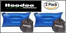 2 PACK of Hoodoo Backpacking Pillows - Self inflating - Camping - Hiking - BLUE
