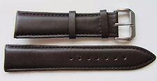 23mm oscuro marrón genuino cuero reloj correa se ajusta Citizen 23P etc. BNWOT