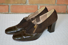 Beautiful Ladies Size 9 Brown Pumps Made by Mikelos Athens Greece
