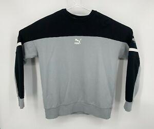 Puma XTG Crewneck Mens Gray Logo Sweatshirt Pullover Large