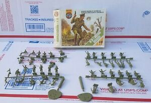 VINTAGE 1975 AIRFIX 1/72 HO/OO SCALE WWI BRITISH INFANTRY (48) SOLDIERS SET MINT