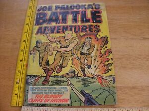 Joe Palooka Battle Adventures War #71 comic book G grenade bloody cover