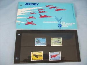 Jersey '50th Annivers Royal Air Force' Stamp presentation pack issue 30/10/1975