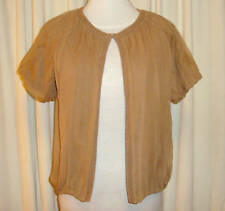 BNWT:GORGEOUS J.CREW SILK SHORT SLEEVED CARDIGAN size M