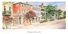 """Charlestons Rainbow Row""Historic Charleston water color prints Anniversary gift"