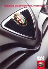 Alfa Romeo 145 1999 colour & upholstery colours multi-language brochure