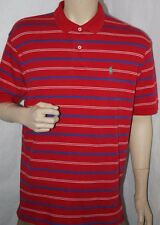 Polo Ralph Lauren Shirt Red Striped Green Horse Polo  L Large