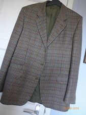 "RETRO ENGLISH DOUBLE VENT COUNTRYJACKET -100% WOOL BY ""JOHN G HARDY"" - SZ 42REG"