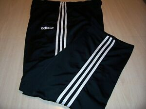 ADIDAS BLACK W/WHITE STRIPES ATHLETIC PANTS MENS XL EXCELLENT CONDITION