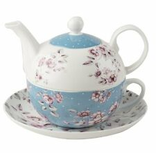 Katie Alice DITSY FLORAL TEA FOR ONE - Saucer + Teapot + Cup Set FINE CHINA