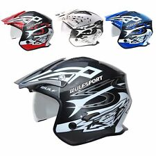 Wulfsport Vista Trials Helmet Open Face With Drop Down Visor