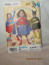 SIMPLICITY PATTERN 1035 A SIZES 3 -8 SUPER HERO HALLOWEEN COSTUMES FREE SHIPPING