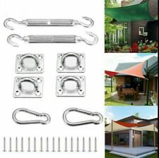 Stainless Steel Sun Fixing Fittings Sail Shade Kit Garden Awning Canopy Tools