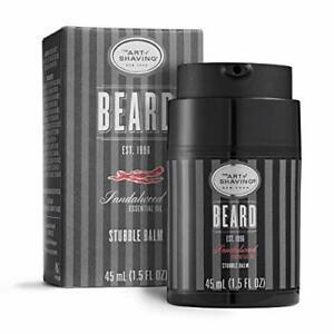 The Art of Shaving Beard Balm Conditioner for Stubble Hair Sandalwood, 1.5 Ounce
