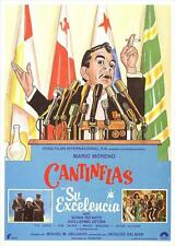 SU EXCELENCIA Movie POSTER 11x17 Spanish Cantinflas Sonia Infante Guillermo