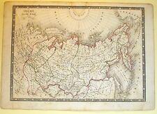 Carta geografica antica RUSSIA asiatica Siberia Monin 1840 Old antique map