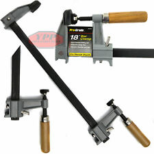 "18"" Bar Clamp Heavy Duty Adjustable Quick Release Wood Handle Carpenter Tool New"