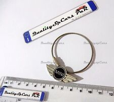 PORTACHIAVI MINI COOPER S ONE NERO METALLICO KEYCHAIN RING BLACK R56 R53 JHON
