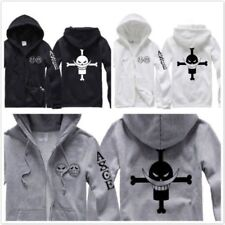 One Piece Fire Fist Ace zipper Hooded Coat Jacket Cosplay Costume Casual Hoodie