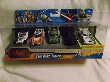 Hot Wheels Star Wars 5 Pack. 2014 Mattel.Target Exclusive. Unopened 887961074529