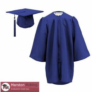 Graduation Gown & Hat Children--MATT Set for Nursery age 3 - 6, in 5 colours