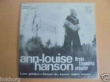"ANN LOUISE HANSON LEVE GLADJEN NORWEIGAN 1970 7"" SINGLE PICTURE SLEEVE PHILIPS"