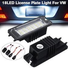 2X 18 LED TARGA LUCE POSTERIORE PER VW EOS GOLF MK4 MK5 MK6 MK7 PASSAT B6 B7