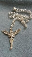 HANDCRAFTED NECKLACE - LARGE FAIRY - SILVER PLATED - FANTASY TINKERBELL
