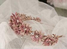 Dusky Pink Daisy Boho Chic Floral Head Hair Band Ideal Wedding Bride Bridesmaid