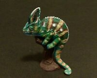 RARE Kaiyodo Choco Q Animatales Pet 5 Veiled Chameleon Lizard Figure A Retired