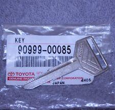 Genuine Toyota OEM Steel Key Blank - Brand New Uncut Master Key - 90999-00085