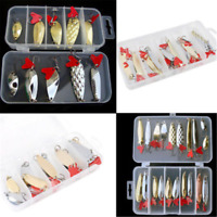 20/10PCS Mixed Trout Spoon Metal Fishing Lures Spinner Baits Bass Tackle Set