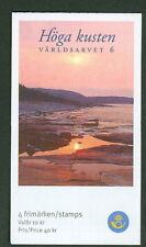 SWEDEN (H558) Scott 2503, UNESCO World Heritage High Coast booklet, VF
