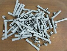 About 1-1/2 Quarts Vintage Gray Perm Rod Hair Curlers Good Clean FREE S/H