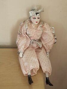 Vintage Pierrot Doll. Art Deco Style. Gothic