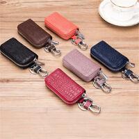 Women Men Key Wallets Crocodile Genuine Cow Leather Remote Key Bag Case Holder