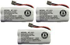 3 Uniden Bt-1021 Cordless Phone Battery Cordless Handset Rechargeable Battery