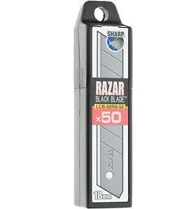 Tajima Abbrechklingen schwarz 50 St für Cuttermesser 18mm