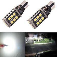 2X Error Free T15 T10 High Power 15W LED White Backup Reverse Light Bulbs 921