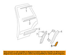 TOYOTA OEM 05-07 Sequoia Exterior-Rear-Flare Protector Right 587410C050