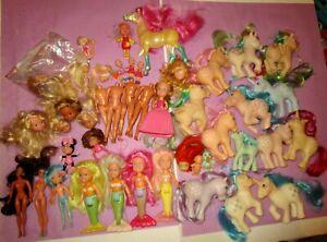 80s-90s Girl Toy Lot Vintage Custom Bait Doll My Little Pony Pretty Mermaid