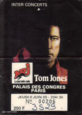 ticket billet place concert used TOM JONES 1989 PARIS