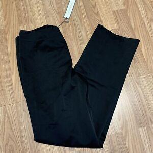Ann Taylor Womens Dress Pants Sz 8L Black Margo Sits Below The Waist New R36