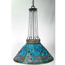 Tiffany Style Dragonfly Hanging Ceiling Light Shade 52cm Blue/green Glass