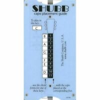 New Shubb TG1 Pocket Size Transposing Slide Chart & Capo Placement Guide w/Picks