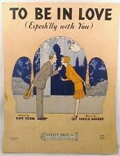 Vintage Sheet Music To Be In Love Especially With You Art Deco 1929 Espesh'lly