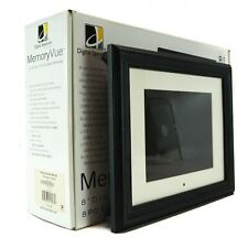 "MemoryVue Picture Digital MF800 Digital Photo Frame 8"" Brown Black Remote LCD SD"