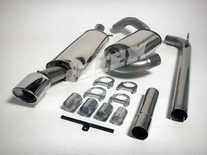 Jetex VW Corrado VR6 Stainless Steel Cat Back Exhaust Half System Non Resonated