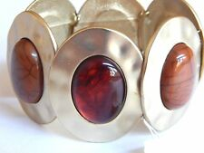 Style and Co Hammer Gold Tone Oval Amber and Tortious Shell Inspired Bracelet